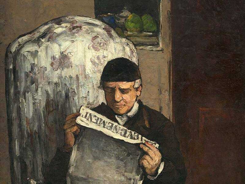 Cezanne only once exhibited at the Salon, with this portait of his father.