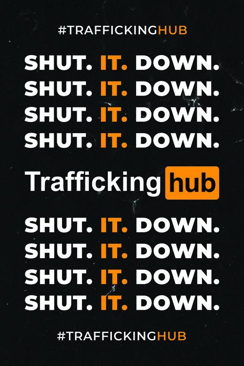 Traffickinghub Logo and Tagline Poster