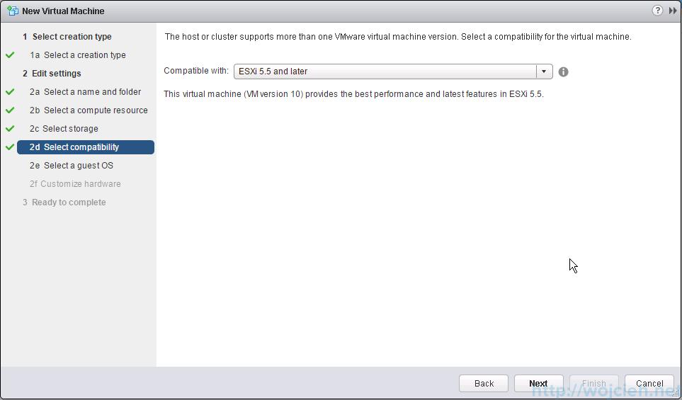Mware ESXi 6.0 as nested virtual machine - choose virtual machine version