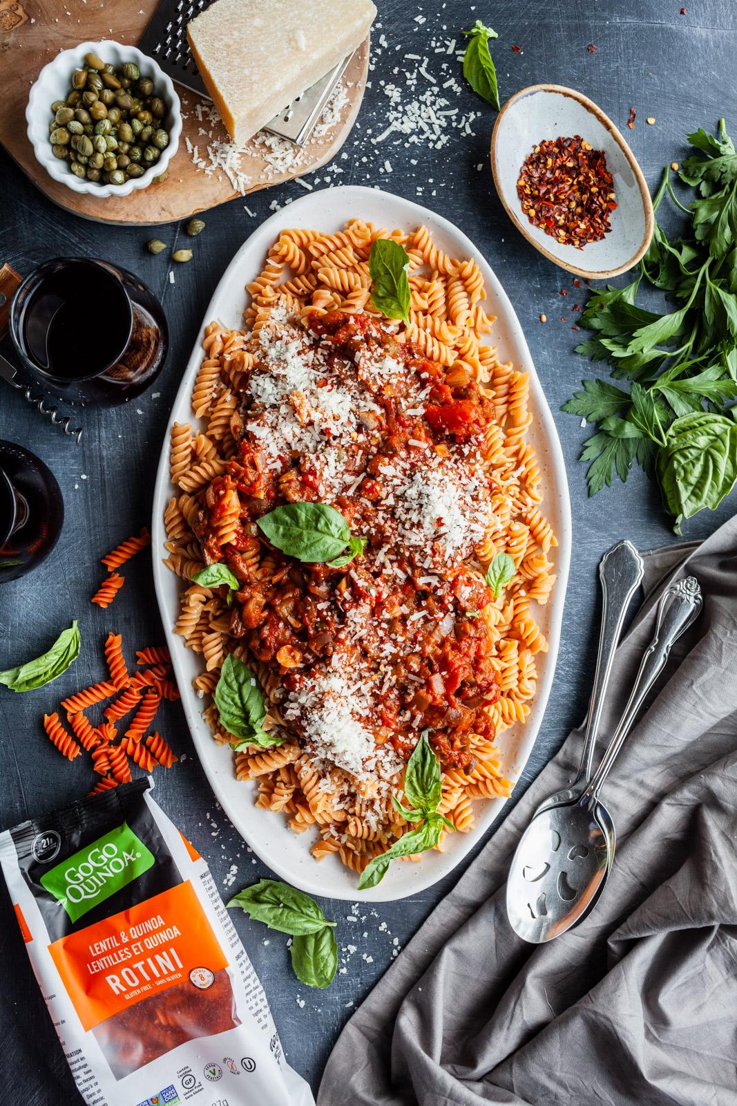 Eggplant And Mushroom Rotini