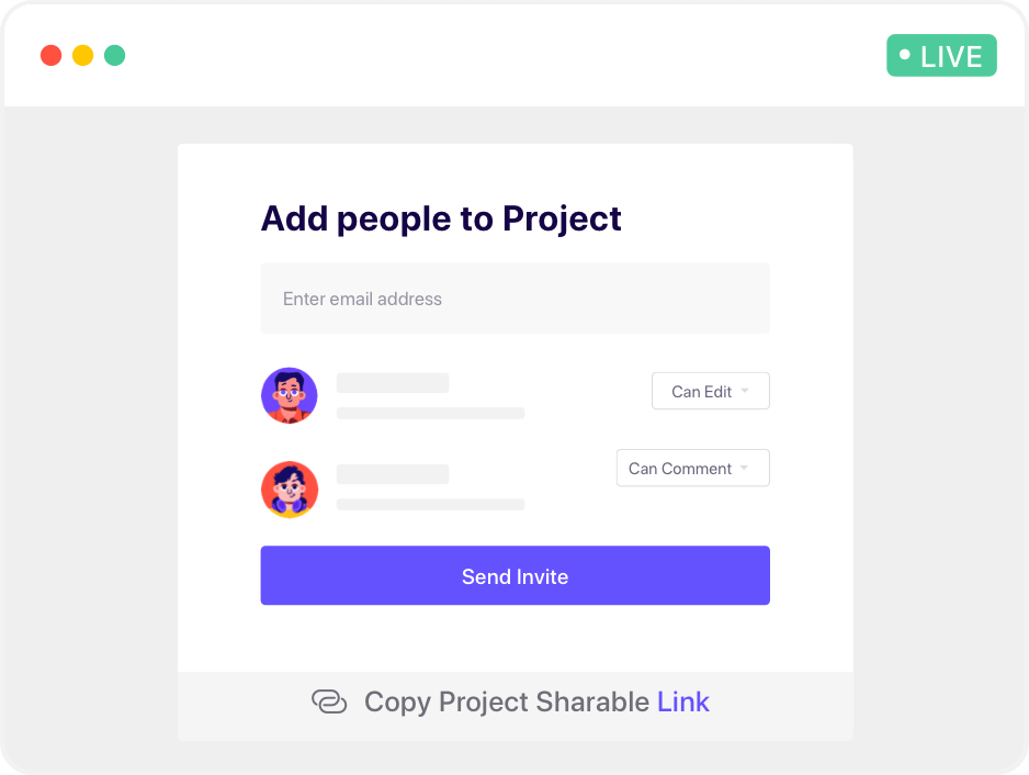 ruttl project sharing feature