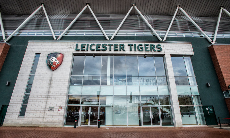 Leicester Tigers rugby stadium entrance