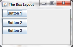 A separated box layout