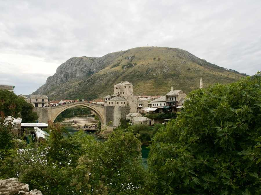 View of old town Mostar