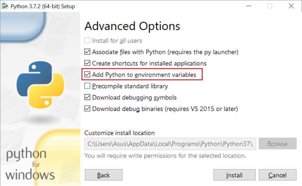 python environment variables on windows