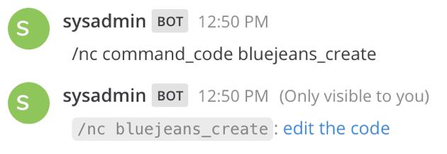 Edit BlueJeans Code