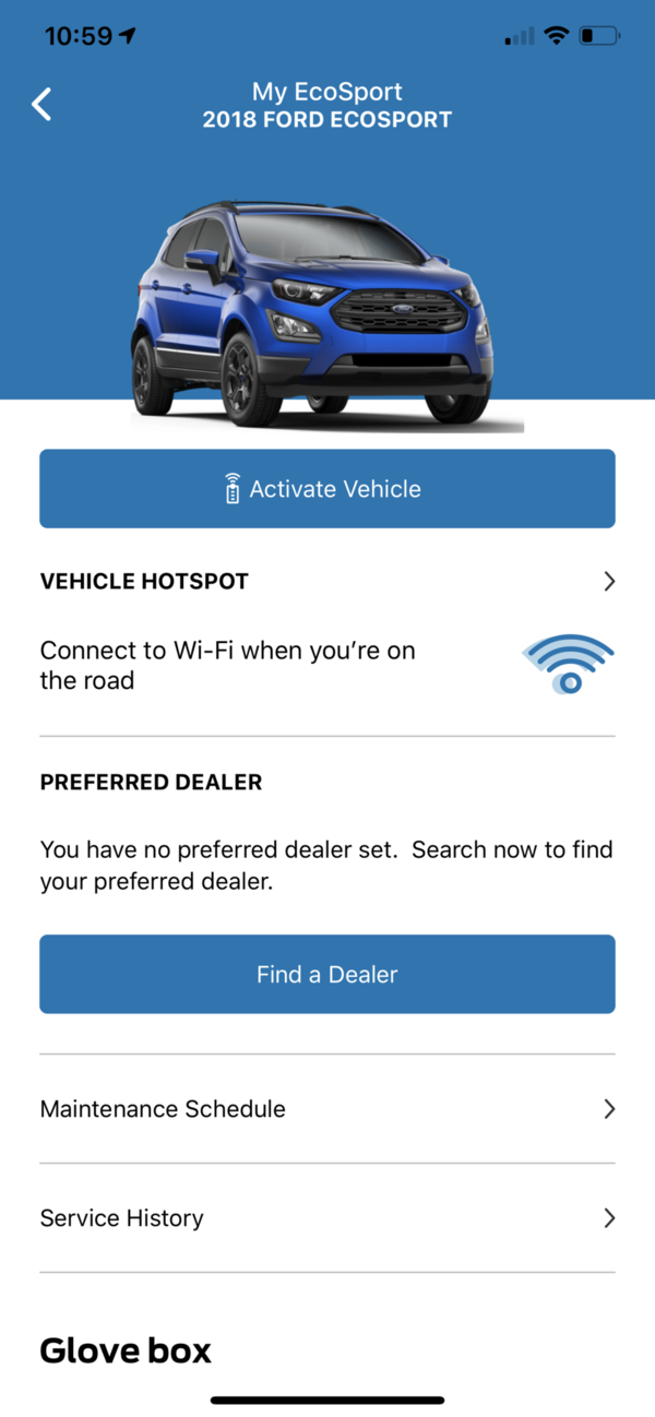 FordPass Vehicle Details