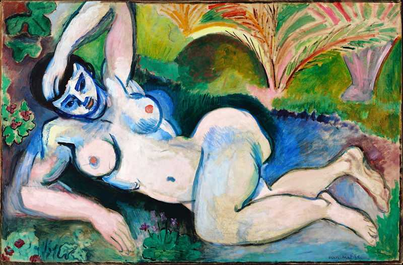 'Blue Nude' by Matisse in 1907, Baltimore Museum of Art