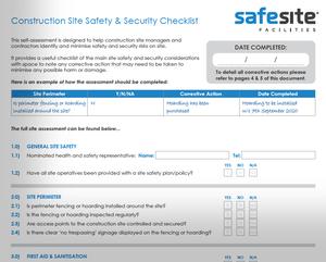 Free construction safety checklist