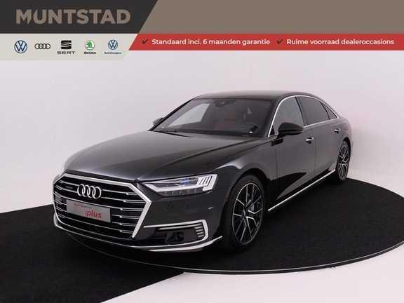 Audi A8 60 TFSI e 449 pk Quattro Lang Pro Line 4-wiel besturing | Sepa. stoelen achter | B&O 'Advanced' | Audi Exclusive Koelbox | Laser LED | Stoel massage/ventilatie | Head-Up Display | Rear Seat Entertainment