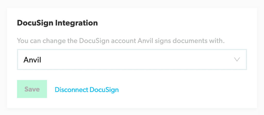 Docusign Disconnect Card