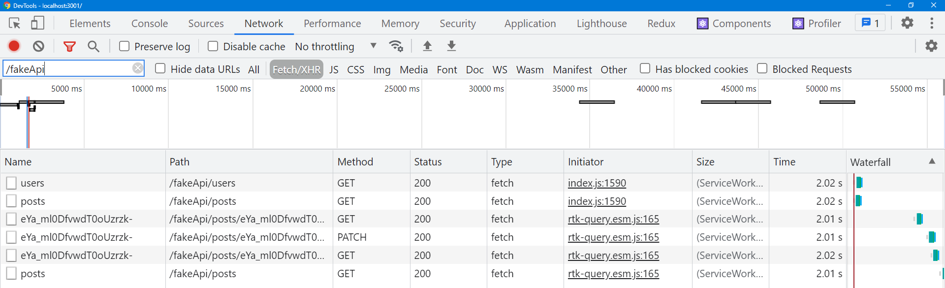 RTK Query invalidation and refetching