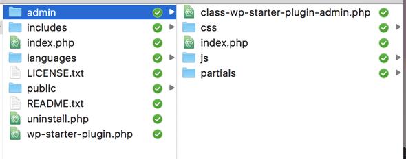 WordPress Plugin Boilerplate Admin Folder
