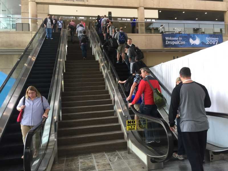 Stairs vs. escalators