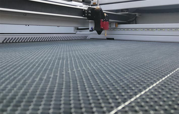Aeon Mira 9 CO2 laser cutter honeycomb table