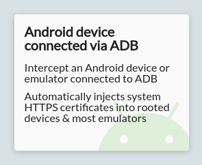 Android device connected via ADB option