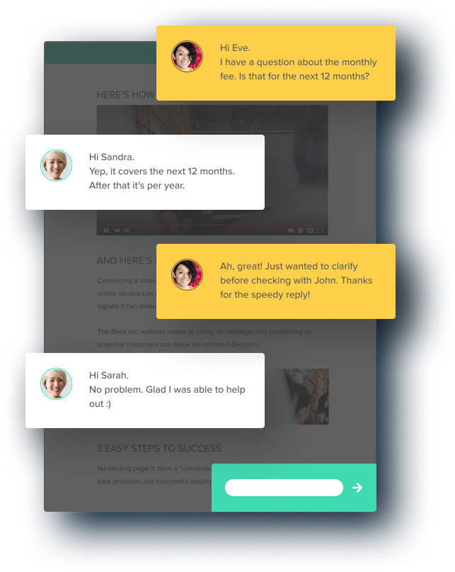 Live chat integration Nusii