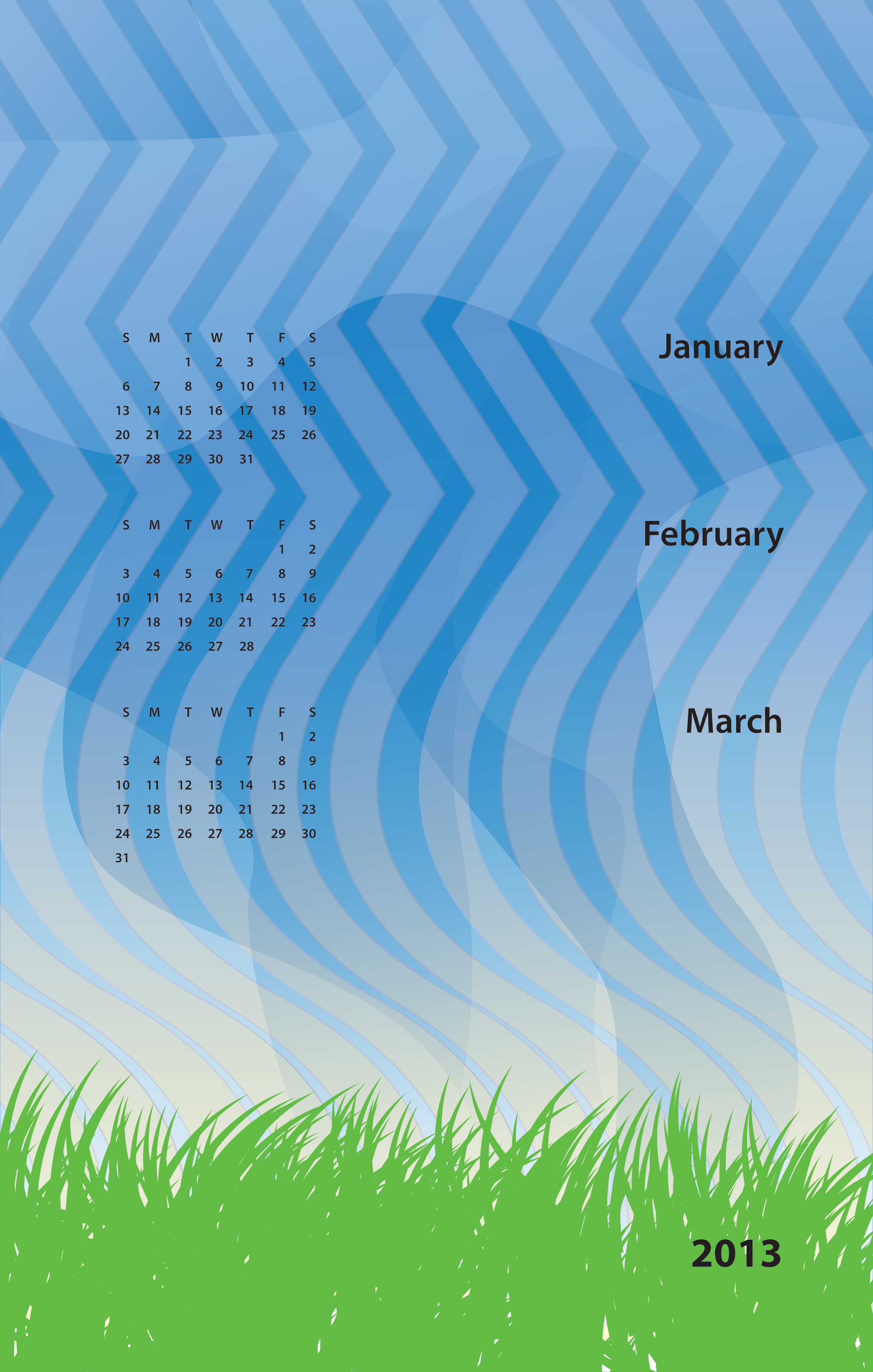 January, February, March 2013
