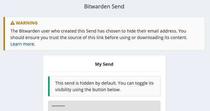 Sender Email Hidden