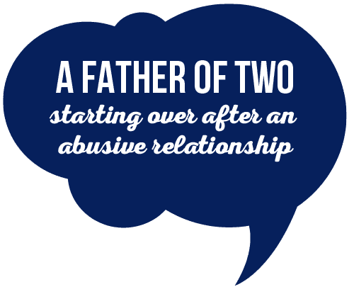The Airdrie Angel Program. A Father of two starting over after an abusive relationship.