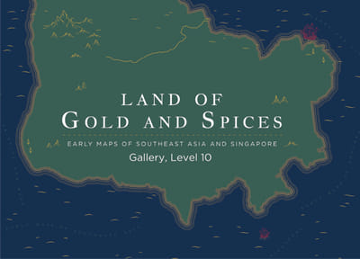 An illustrated map with the title: 'Land of Gold and Spices'.