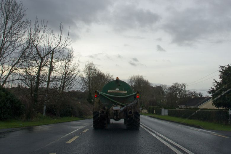 Stuck behind a tractor
