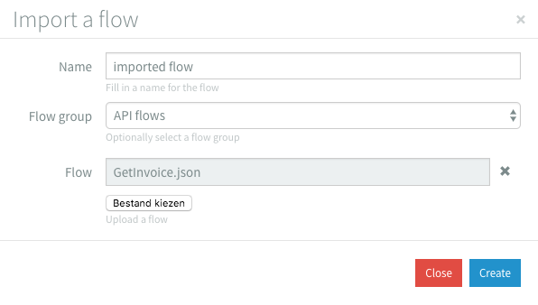 Import Flow Modal