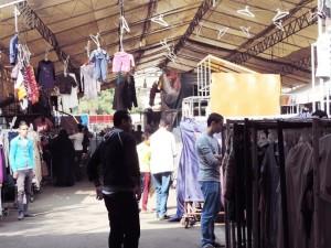 [Reallocated Downtown Street Vendors in al-Sahaafa Street. Captured November 2014]