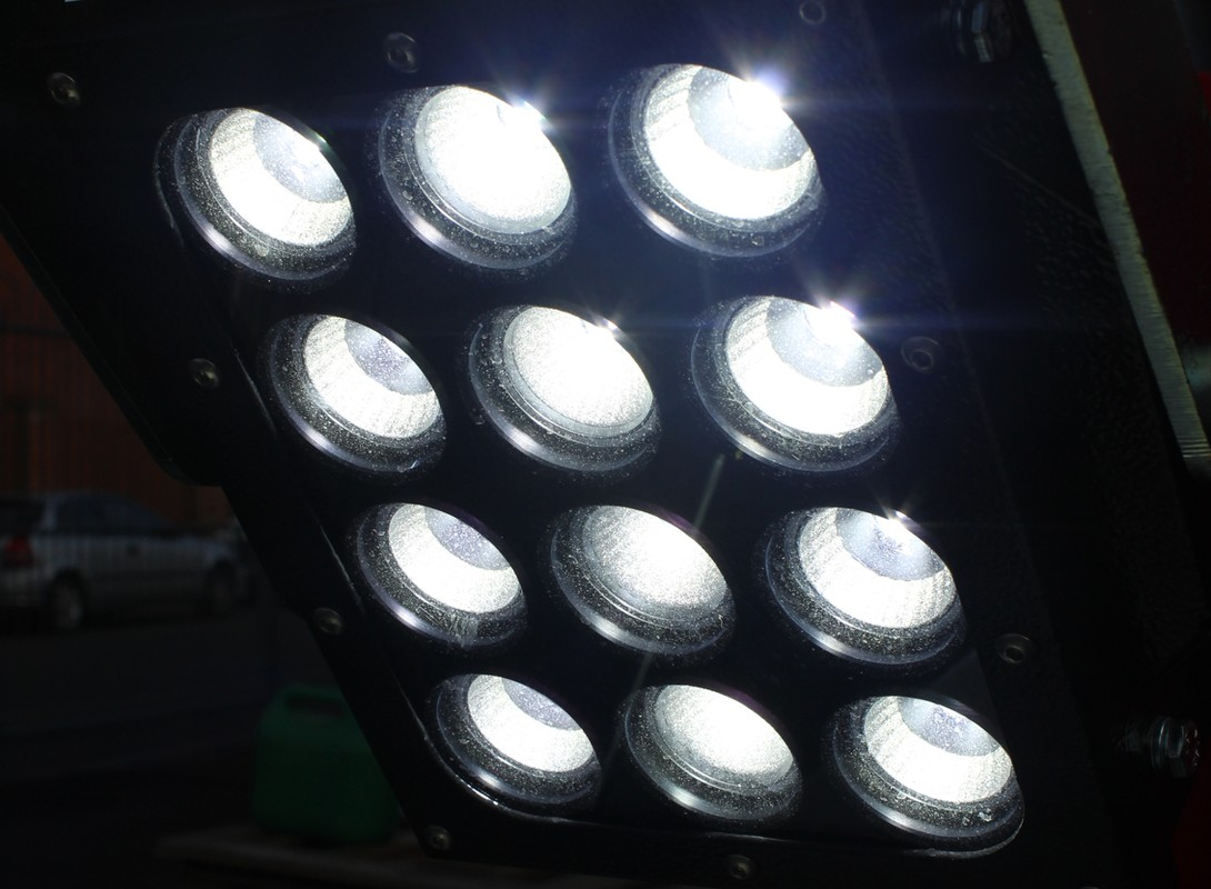 Light Tower LED Lights Close Up