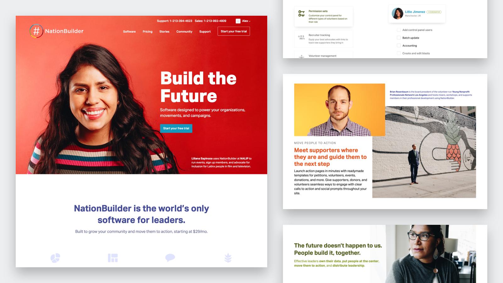 NationBuilder homepage graphics