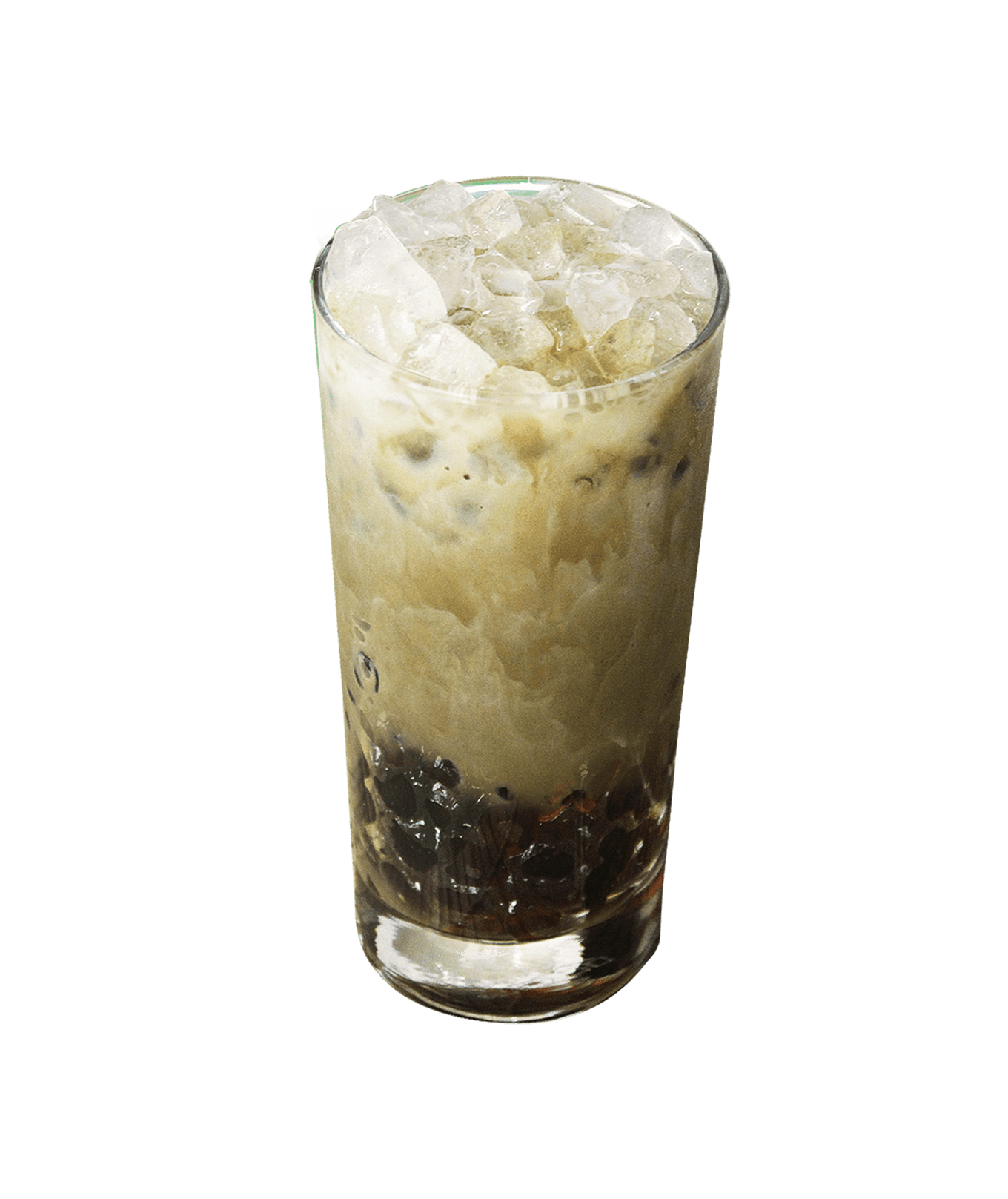 Iced Houjicha Latte with Jelly