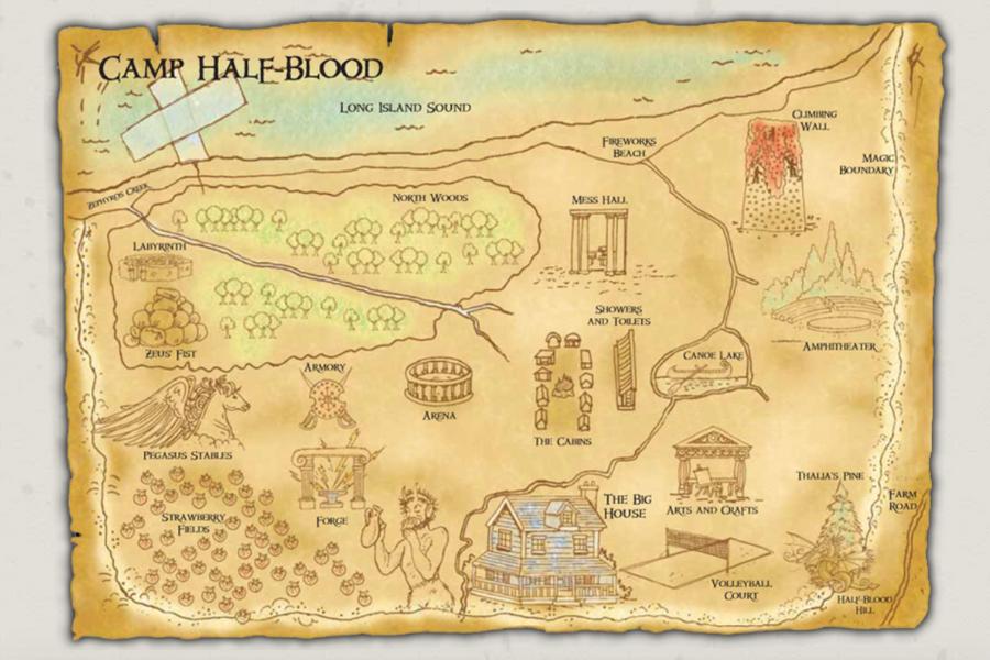 Camp Half Blood map image