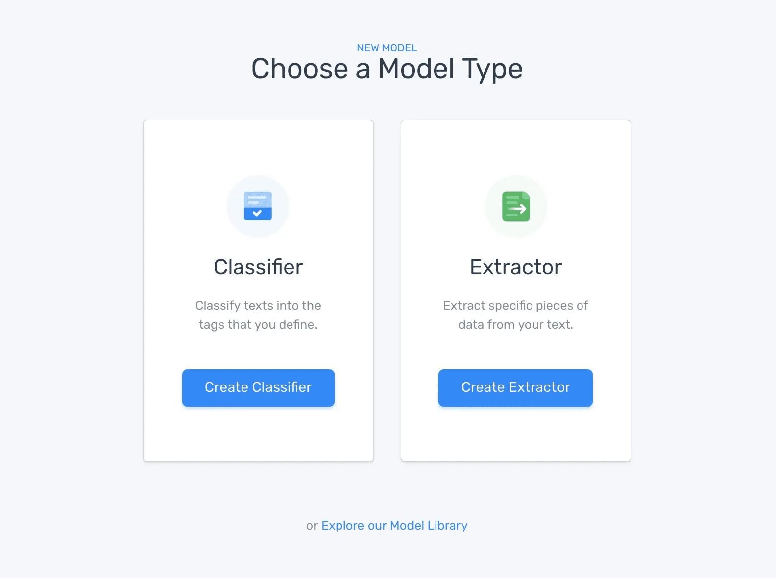 chose a model type