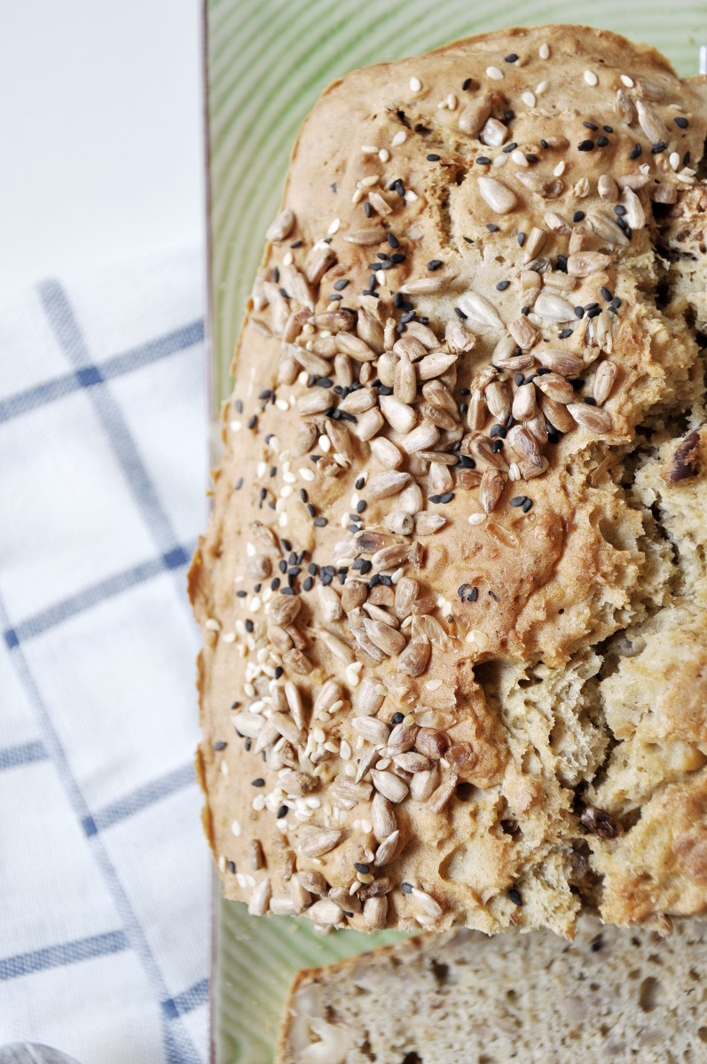 Yogurt Bread with Nuts and Seeds