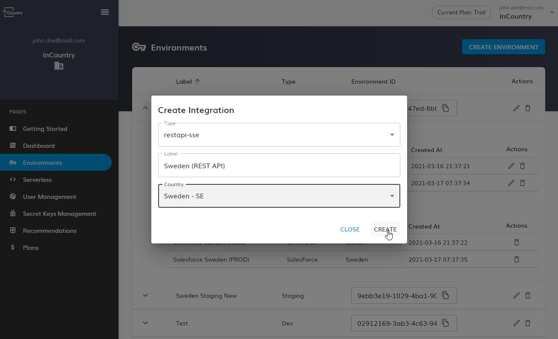 Create Integration
