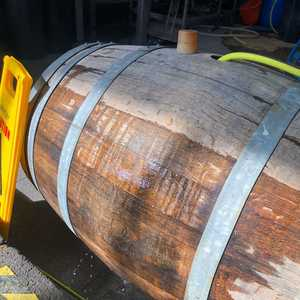 Re-sealing our oak barrel again by soaking it for a day or 2, ready for a new batch of our popular Tripel #belgiantripel