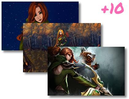 Windranger Dota 2 theme pack