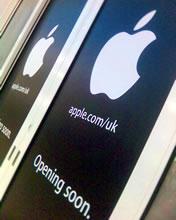 Doors of the new Apple Store in Birmingham