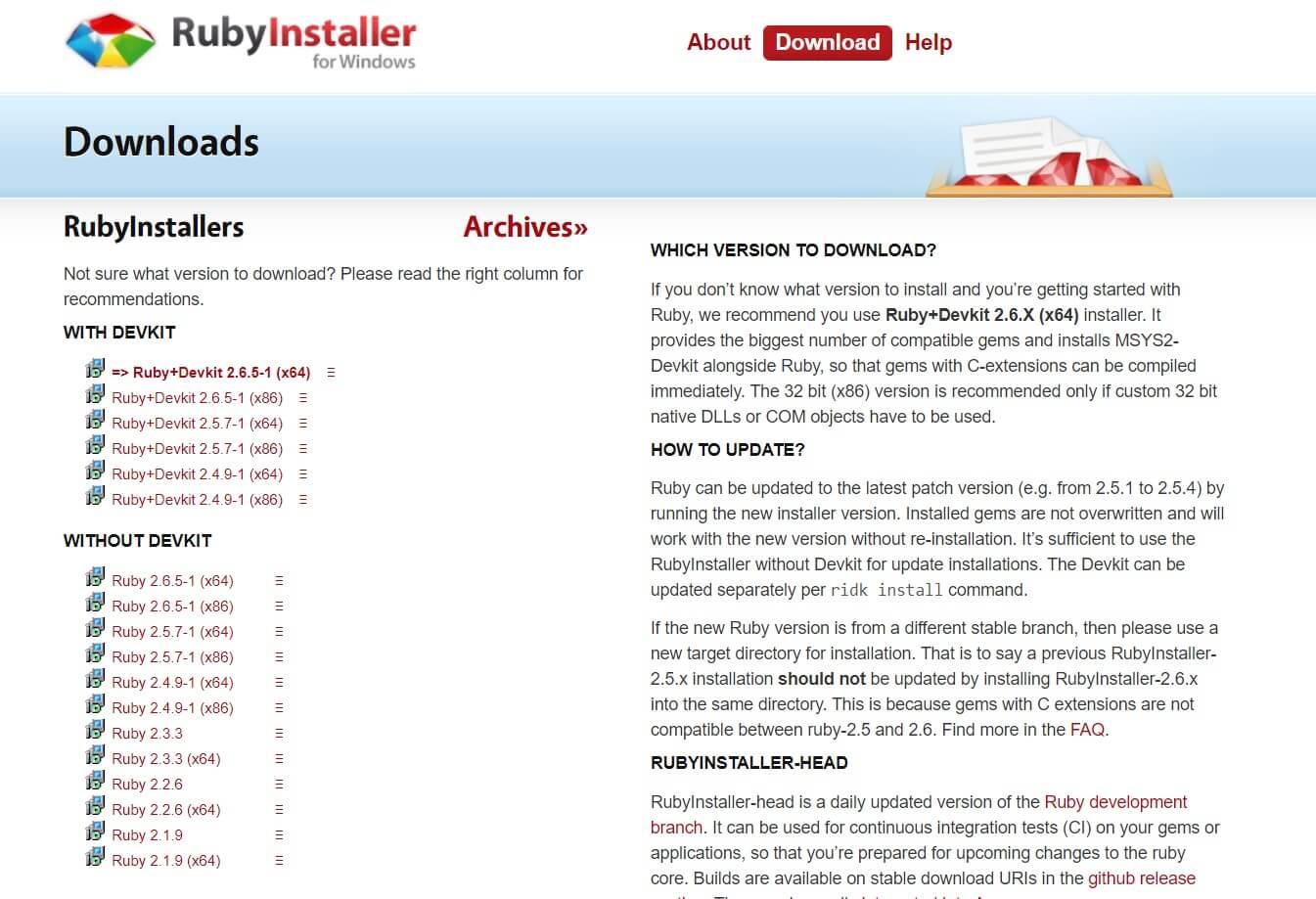 Rubyインストール1