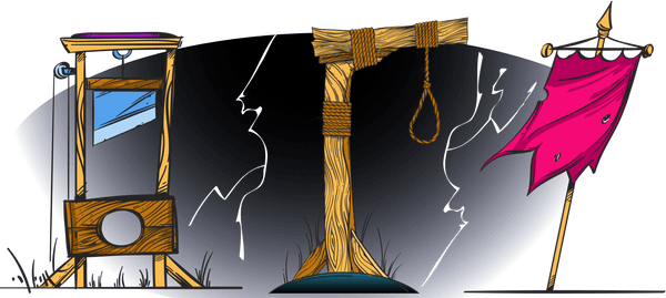 A noose and guillotine