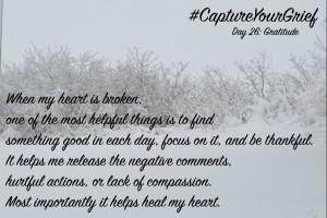 #CaptureYourGriefDay26