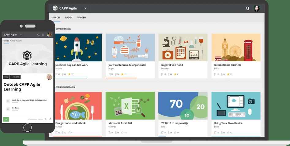 CAPP Agile Learning op desktop en mobile