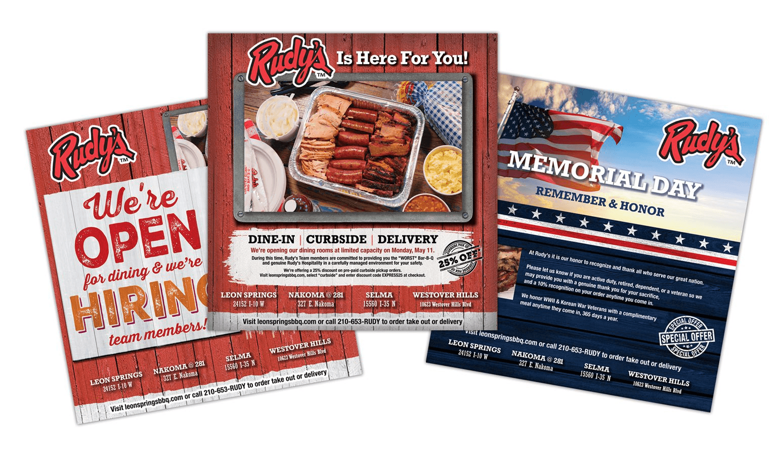 Rudy's Restaurant Print Ads