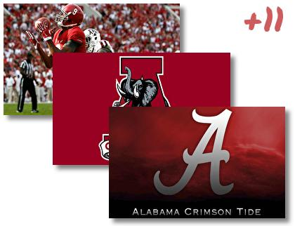 Alabama Crimson Tide theme pack