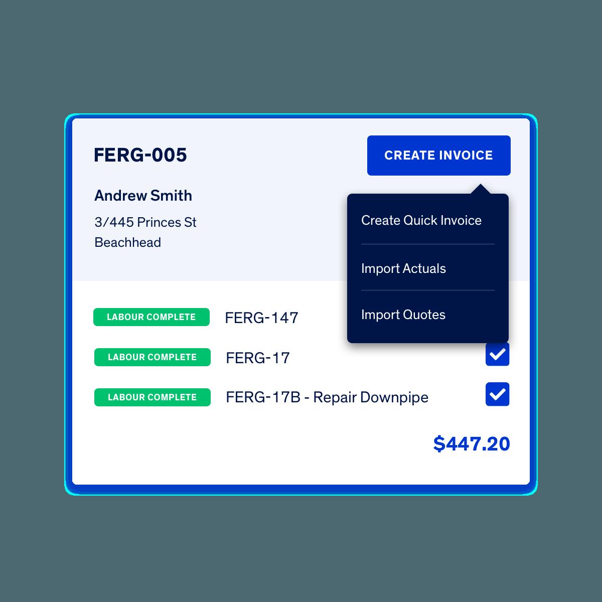 Fergus Invoice Builder