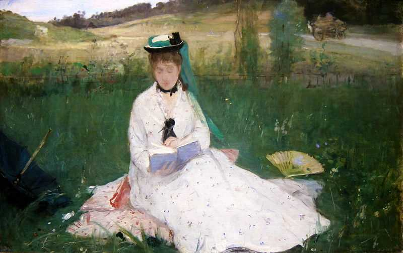 'Reading' by Berthe Morisot, 1873 currently at Cleveland Museum of Art, US