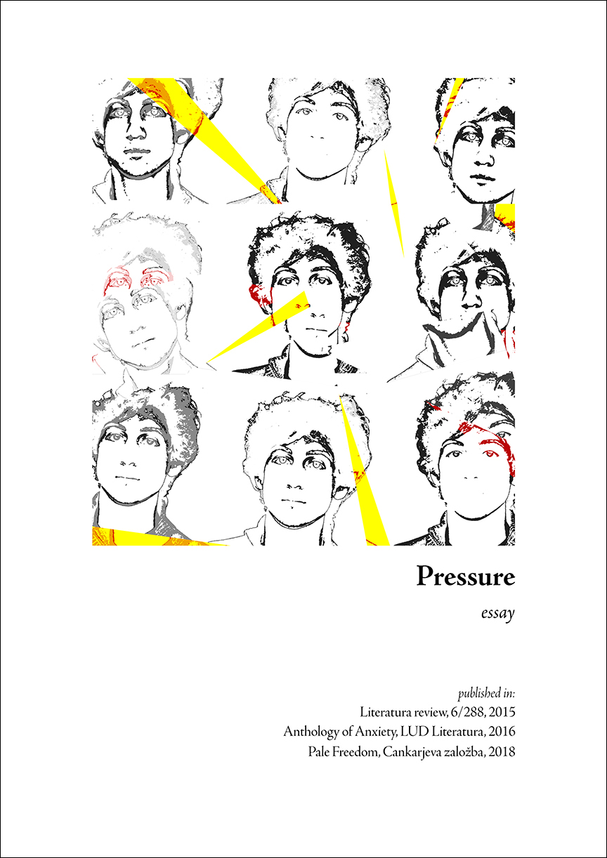 """Pressure: an essay"" Book Cover"