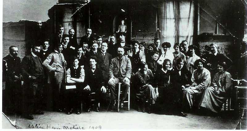 A photograph of Matisse and his students in 1909