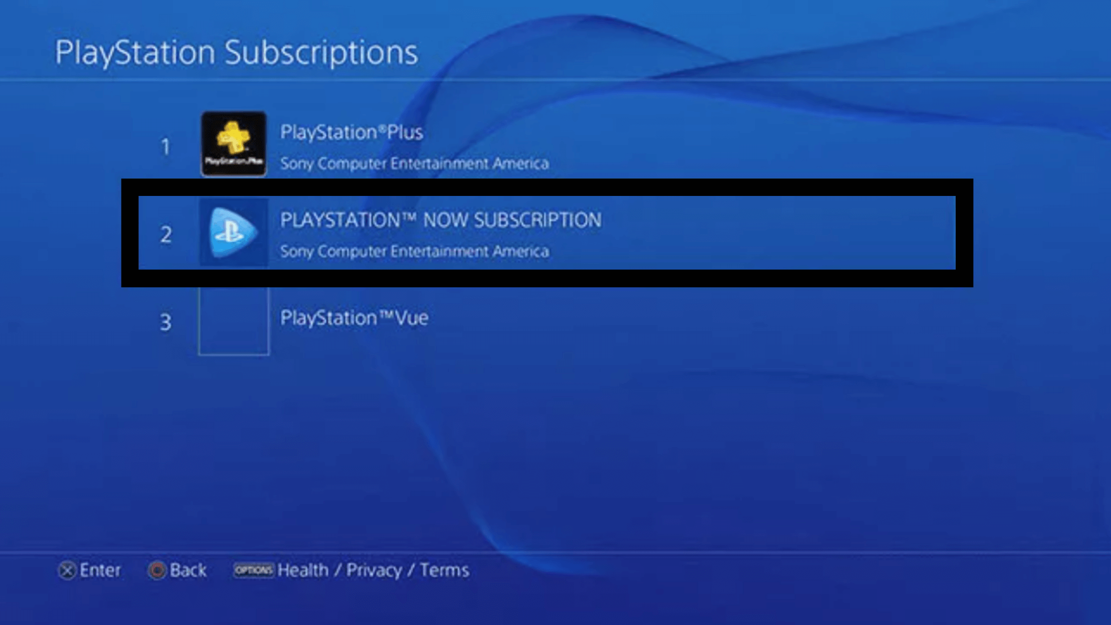 cancel playsattion now on ps4