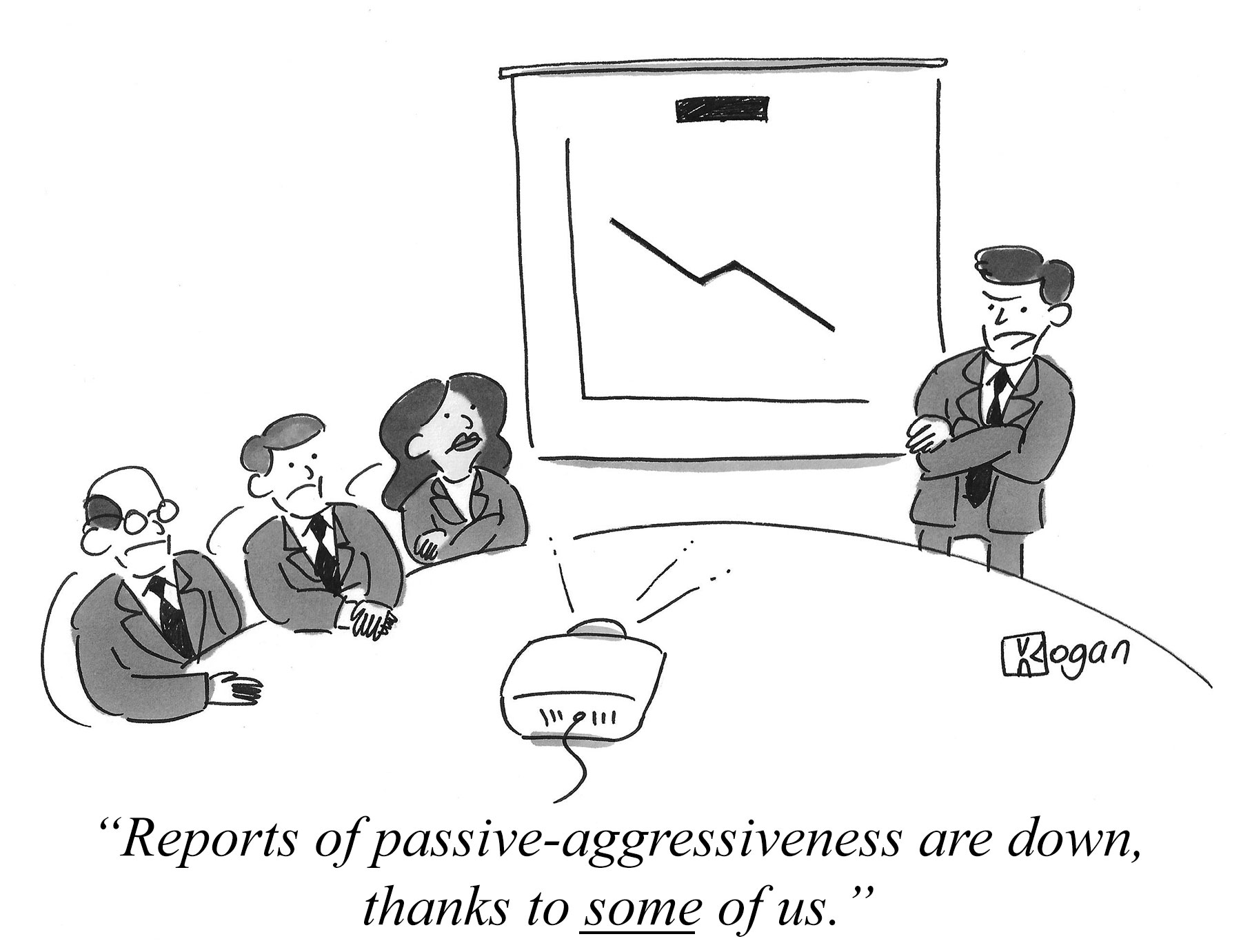 Reports of passive-aggressiveness are down, thanks to some of us.